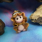Bare King 'Donal' Tiny Royal Gnome 'King's-new-clothes' OOAK Sculpt Ann Galvin