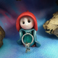 "Tiny Keykeeper Gnome 'Englis' with Vault Keys 1.5"" OOAK Sculpt by Ann Galvin"
