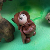 "Tiny Gnome Monk 'Brother Odden' 1.5"" OOAK Sculpt by Ann Galvin Gnome Village"