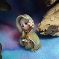 "Tiny Gnome Maiden 'Tya' 1.5"" OOAK Sculpt by Ann Galvin"