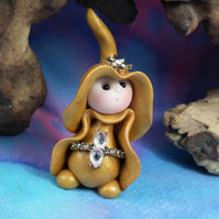 Princess 'Carmel' Tiny Royal Gnome with Crown Jewels OOAK Sculpt by Ann Galvin