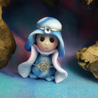 Princess 'Kristle' Tiny Royal Gnome with Crown Jewels OOAK Sculpt by Ann Galvin