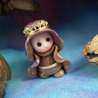 Princess 'Millen' Tiny Royal Gnome with jewels OOAK Sculpt by Ann Galvin