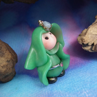 Lady 'Deena' Tiny Lady-in-waiting Gnome OOAK Sculpt by Ann Galvin