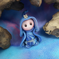 "Tiny Gnome Maiden 'Orlah' 1.5"" OOAK Sculpt by Ann Galvin"
