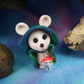 Midnight Mouse 'Dally' Guardian of Time OOAK Sculpt by Ann Galvin Gnome Village