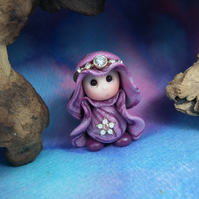 Princess 'Nessa' Tiny Royal Gnome with jewels OOAK Sculpt by Ann Galvin