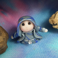 "Tiny Gnome Songster 'Melody' 1.5"" OOAK Sculpt by Ann Galvin"