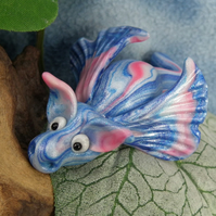 Variegated Dragon 'Treste' OOAK Sculpt by artist Ann Galvin Gnome Village