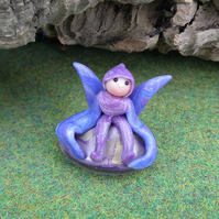 Dragonfly Sprite 'Daze' on glass base OOAK Sculpt by Ann Galvin