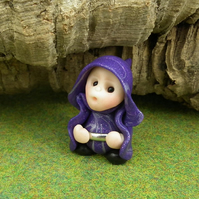 "Tiny Gnome Maiden 'Faraya' 1.5"" OOAK Sculpt by Ann Galvin"