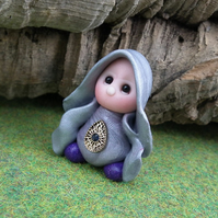 "Tiny Gnome Maiden 'Greta' 1.5"" OOAK Sculpt by Ann Galvin"