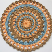 Crochet Mandala Doily Table Mat