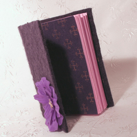 Cute Purple Felt Covered Note Book