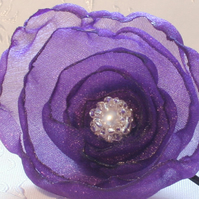 Organza Flower Hair Corsage