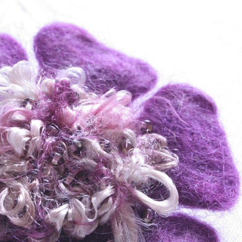 Hand Felted Flower Corsage