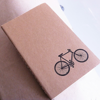 Bicycle Letterpress Printed Moleskine Cahier
