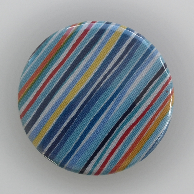 Fabric covered handbag mirror Stripes