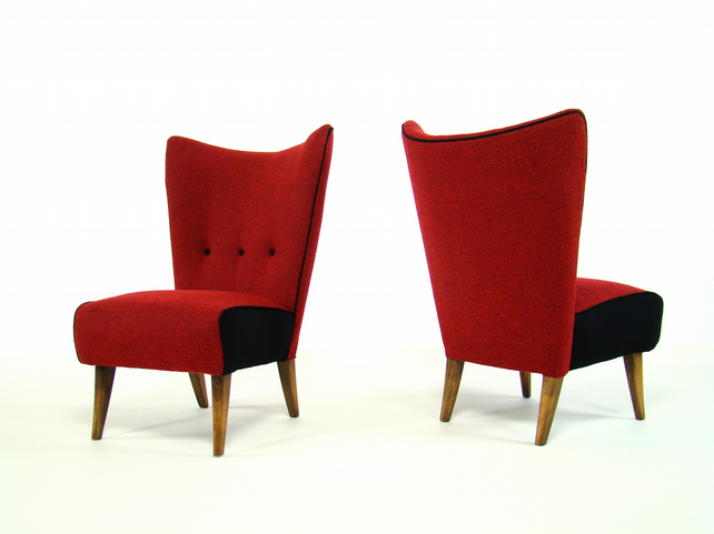 Chic Vintage 1950's Cocktail Chairs By Howard Keith
