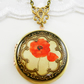 Beautiful New Poppy Locket.Gift For Her.