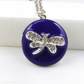 Rhinestone Dragonfly Silver Locket In Dark Amethyst Colour Enamel.Gift For Her.
