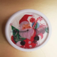 Father Christmas Button Badge
