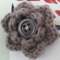 Crocheted Flower Hair Slide
