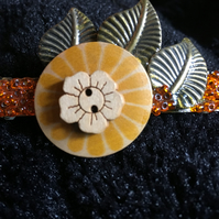 Up cycled hair barrette