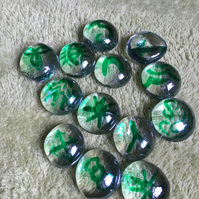 Set of 13 glass witch runes