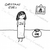 Eve's Big Sister Bespoke Christmas Card RESERVED
