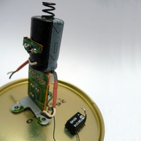 """Springsteen"" Circuitboard Sculpture"