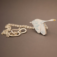 Swan Tin Necklace