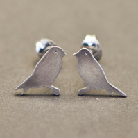 Goldfinch Silver Stud Earrings