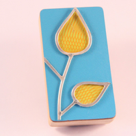 Formica Leaf Brooch Yellow