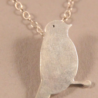 Silver Necklace Goldfinch
