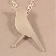 Silver Necklace Bluethroat