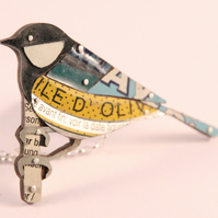 Great Tit Tin Necklace