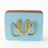 Formica Wing Brooch (Yellow Tin)