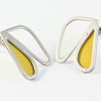 Small Silver Abstract Wing Yellow Tin.