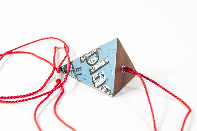 Pyramid Elastoplast Tin Necklace