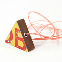 Triangle Yellow Necklace