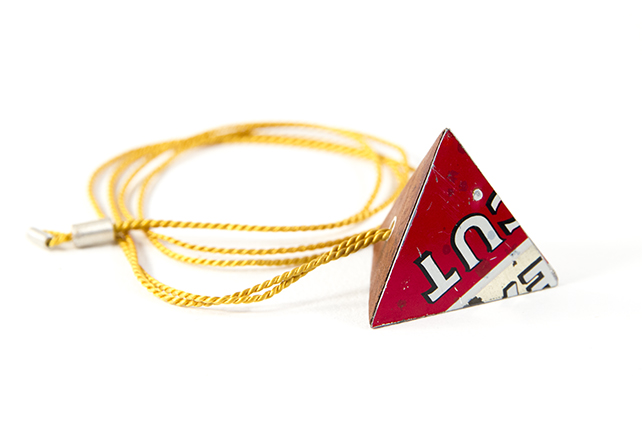 Pyramid Player's Tin Necklace