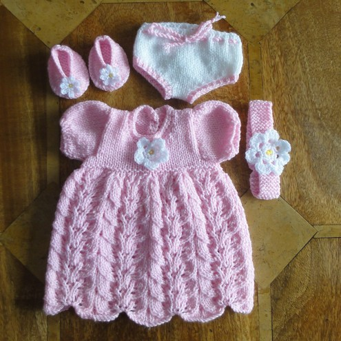Baby Dress Free Knitting Pattern : Baby Doll Clothes Knitting Patterns images