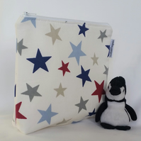 Wash bag - stars. Wipe clean lining