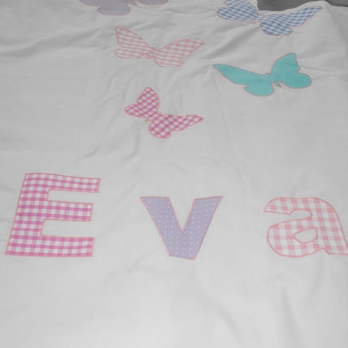 Butterflies Personalised Cot Bed Duvet Cover Folksy