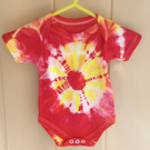 Tie Dyed body suit new born