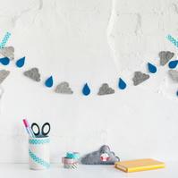 Rain & Cloud Garland