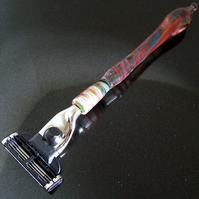 Red & Blue Glass Mach3 Razor