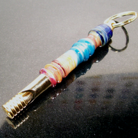 Turquoise Steampunk Dog Whistle