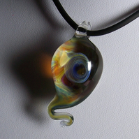 Question Mark/ Tadpole Galaxy Pendant